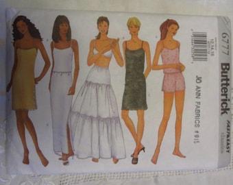 Butterick 6777 Lingerie Pattern FF 12 14 16 Full Half Slip Camisole Shorts Petticoat