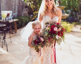 Girls mermaid dress, mini bride mermaid dress