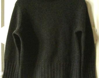 J Jill Black Cotton Turtleneck Sweater, S