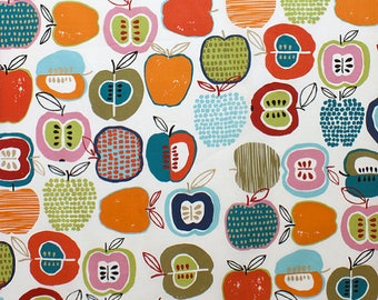 LAMINATED cotton fabric by the yard (similar to oilcloth) - Apple of my Eye - Alexander Henry - Approved for children's products
