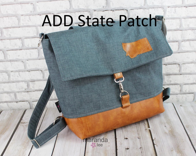 ADD On a STATE Patch to your bag or accessory