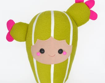 Cactus kid plushie kawaii novelty geeky sweet pillow plant succulent cacti soft toy stuffed teddy cuddly and soft