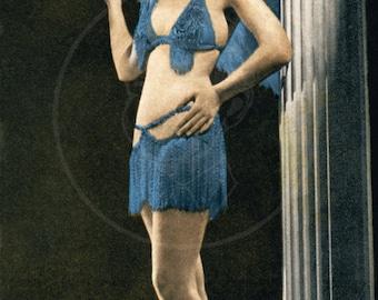 Earl Carroll Pin Up (No. 2) - 10x16 Giclée Canvas Print of Vintage Pinup card