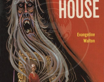 Witch House - 10x17 Giclée Canvas Print of a Vintage Pulp Paperback Cover
