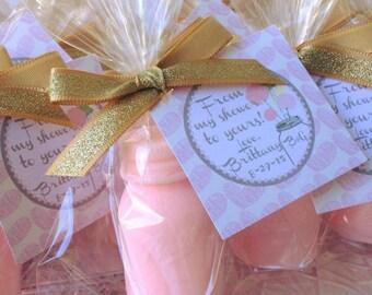 10 Mason Jar Soap Favors - Bridal Shower, Rustic Wedding Mason Jar, Mason Favors, Birthday Party, Baby Shower, Chic, Barn, Whimsical, Ball