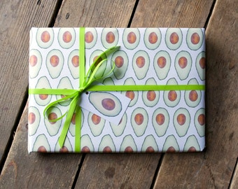 Avocado Wrapping Paper - Avocado Giftwrap - Wrapping Paper for Avocado Lover - Giftwrap for Avocado Lover - Avo Wrap - Vegan Themed Giftwrap