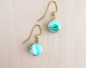 Green Clay Bauble Earring