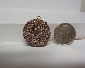Doughnut Food Charm , Chocolate Doughnut  Charm, Sprinkled Doughnut  Charm, Doughnut Charm, Polymer Clay, Desert Charm, Pendant, Ornament
