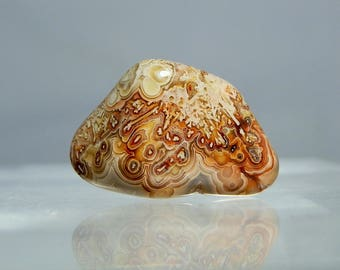 Crazy Lace Agate Tumbled Banded Agate Specimen 6.17 grams. No hole drilled. DanPickedMinerals