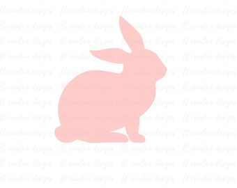 Bunny SVG, Easter SVG, Easter Bunny SVG, Svg File, Siilhouette Cut Files, Cricut Cut Files