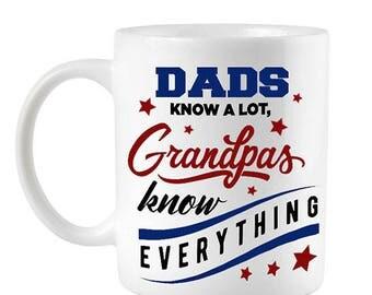 Funny Grandpa Mug, Fathers Day mug for Grandpa, Funny Dad mug, Funny fathers day gift, Grandpa Mug, Patriotic mug, dad mug, Red white blue