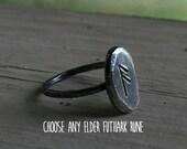Sterling Silver Rune Ring - Viking Jewelry - Rune Ring - Viking Rune Jewelry - Norse Ring