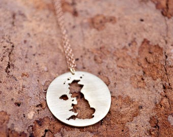 United Kingdom Necklace UK / Jewelry British Necklace / Pendant United Kingdom / Great Britain / Europe Charm Country Gift / Country Charm