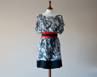 Boho dress, Japanese tunic dress, Loose fit dress, Oversized dress, Bohemian tunic, Black tunic, Bridesmaid dress, Maxi dress, Boho clothing