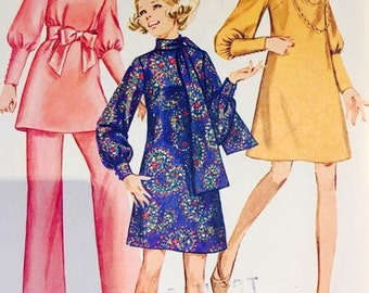 Vintage Simplicity 8361 Misses Dress, scarf and Pants