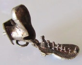 Silver Boot with Family inside Charm