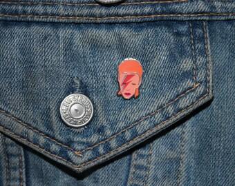 David Bowie Enamel Pin Badge - Hard Enamel Nickel Free Metal Brooch - Cute Ziggy Stardust Aladdin Sane Lightning Bolt Punk '80s