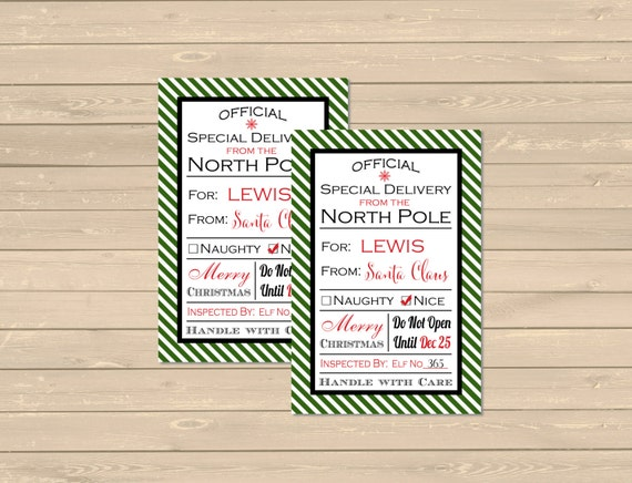 From santa personalized christmas gift tags printable like this item negle Images