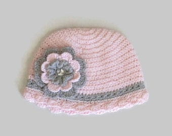 Toddler Crochet Beanie with Removable Flower toddler hat, toddler beanie, toddler girl's hat, toddler girl's beanie, toddler girl's gift