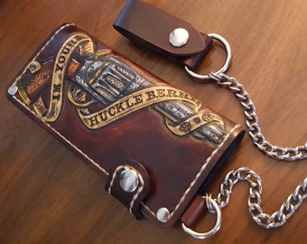 Chain Wallet Im your huckleberry ( Biker Wallet ~ leather wallet ~ pistol wallet ~ trucker wallet ~ Western wallet ) Outlaw Leather USA