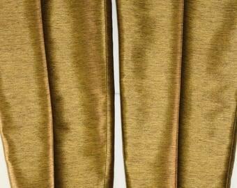 Vintage Gold Pants -Hobbs Quality suit trousers - straight leg cigarette pants -metallic golden -Beige Suit Pants-Straight Leg bottoms L W36