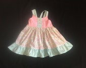 4T  Bella Twirl Easter Spring Summer Sundress, Ready to Ship, Size 4T