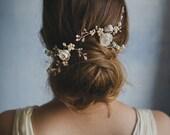 Custom hair clip with polymer clay rose flowers
