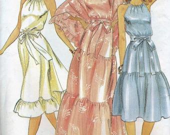 Vintage Butterick #3736; ca. 1980s; Dress, Sash & Shawl Misses Sizes 8 Uncut Fctory Folded