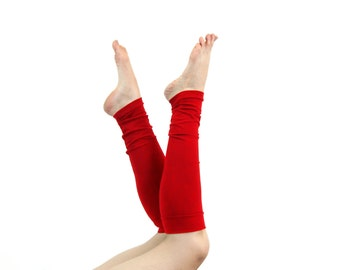 Red Leg Warmers Womens Leg Warmers, Womens Boot Socks Valentines Day Yoga Leg Warmers Adult Leg Warmers Long Leg Warmers Womens Gift for Her