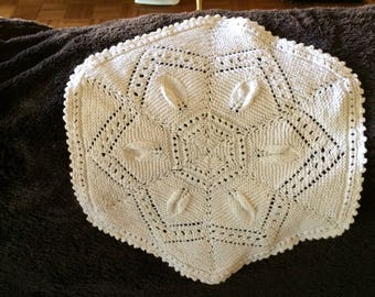 Vintage Knitted Doily White