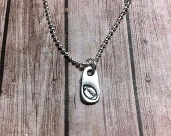 teeny football necklace - tiny football - football necklace - football charm necklace - football charm - petite football necklace