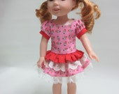 14.5 Inch Doll Wellie Wisher Dress, Hair bow, and Shoes