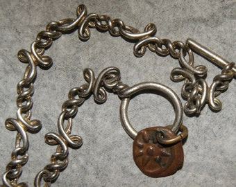 PAWN TAXCO BRACELET Sterling Roman Coin c1940's