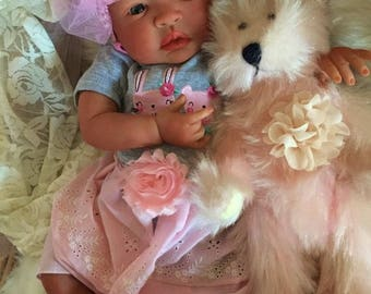 From the Biracial Shyann Kit  Reborn Baby Doll 19 inch Baby Girl Cherie Complete Baby Doll