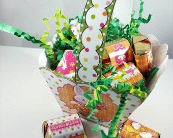 Digital Printable Mini Easter Basket Treat Holder - Party Favor - Easter Decoration - Easter Egg-Chick