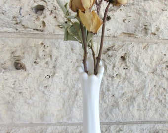 Milk Glass Bud Vase Vintage Milk Glass Flower Vase Wedding Decor