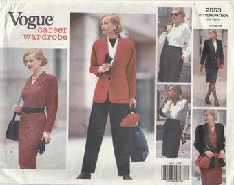 Wardrobe Pattern Vogue 2553 Sizes 12 14 16 Uncut