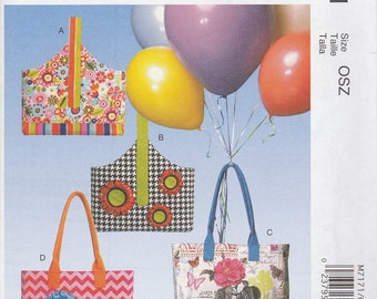 Fun Tote Bag Pattern McCalls 7171 Uncut