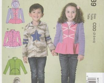 Kids' Jacket Pattern McCalls 7239 Sizes 2 3 4 5 Uncut