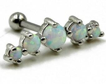 1PC Tragus Piercing Helix Prong  Opal Cartilage Piercing Ear Stud Body Jewelry Earring 16g /bo