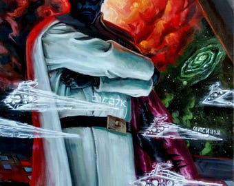 Grand Admiral Thrawn Original Oil Painting