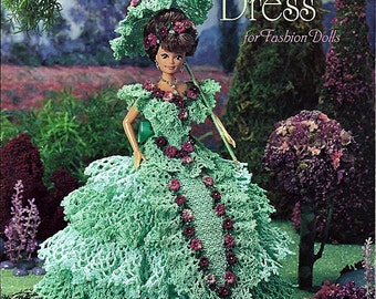 Felicity's Garden Party Dress for Fashion Doll Crochet Pattern Annie Potter Presents 01010997