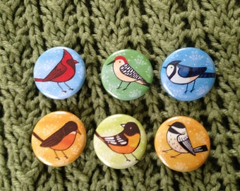 North American Birds 1.25inch pinback buttons pack