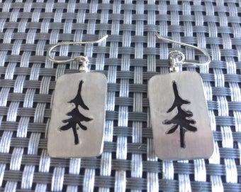 Pine Tree Sterling Earrings