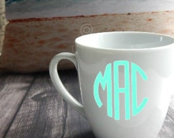 Monogram Mug, Monogram Coffee Mug, Personalized mug, Coffee Mug, Coffee Cup, mugs, girlfriend gift, birthday gift, Gift Ideas, Mother's Day