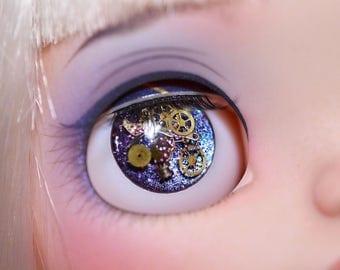 Purple Steampunk Blythe Eyechips