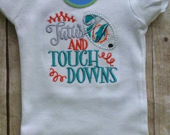 Miami Dolphins Tutus and Touchdowns bodysuit or shirt