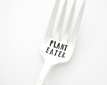 Plant Eater fork. Vegetarian Gift for Plant Based Vegan Gift.