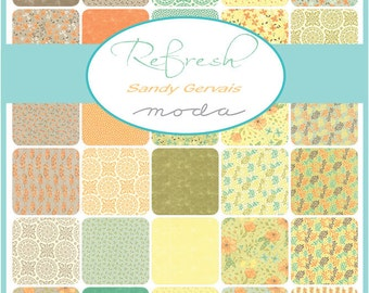 Refresh Jelly Roll by Sandy Gervais for Moda - One Jelly Roll - 17860JR