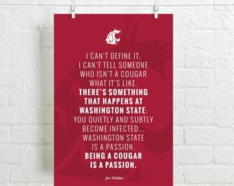 Jim Walden WSU COUGARS POSTER - 12 X 18